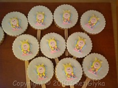 Nana Cookie Pop (Niki SG) Tags: party art girl cookies cake princess sugar cupcake pops sugarpaste