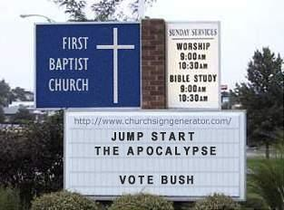 churchsignbush