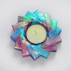 Variante sull'anello di M. Pederson (Knautschogami) Tags: origami paperfolding papierfalten