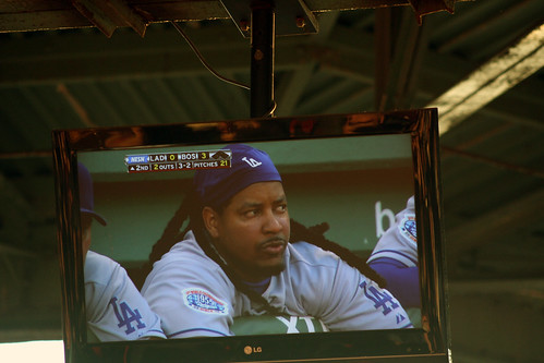 Manny on the screen