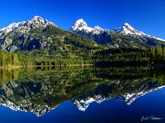 Reflective Teton Beauty (Jerry T Patterson) Tags: park blue trees snow mountains reflection nature water flickr fuji searchthebest peak hike jackson national backpack patterson wyoming tetons hdr jacksonhole magicalmoments grandtetonnationalpark classique coth gtnp 5exp 3exp platinumphoto anawesomeshot flickrdiamond overtheexcellence dphdr absolutelystunningscapes saariysqualitypictures flickrclassique recoilx pastfeaturedwinner mygearandmepremium 2010dcpt