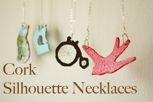 Cork Silhouette Necklaces