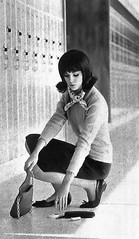 Colleen Corby article 1964 manners 13 (AngoraSox) Tags: girls blackandwhite newyork fashion fun fashionphotography retro highschool nostalgia 1960s coats manners conduct mountvernonhighschool deportment missmanners vintagefashions highschoollockers propriety vintageseventeenmagazine fliphairdo colleencorby mortengel retrofashions 1960sfashions highschoolhallway straightskirts fordfashionmodel seventeenmagazinefebruary1964 vintageschoolpictures