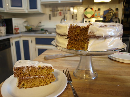 Spice Cake with Mango and Lime