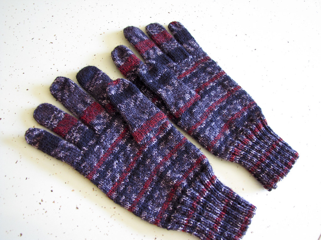 Erik's hand knit gloves
