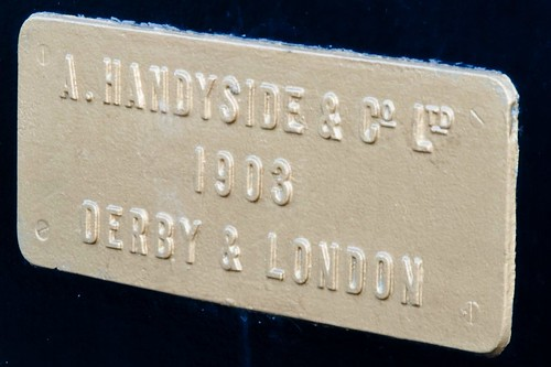 Handyside plaque on the Swingbridge at Castletown Harbour, Isle of Man.