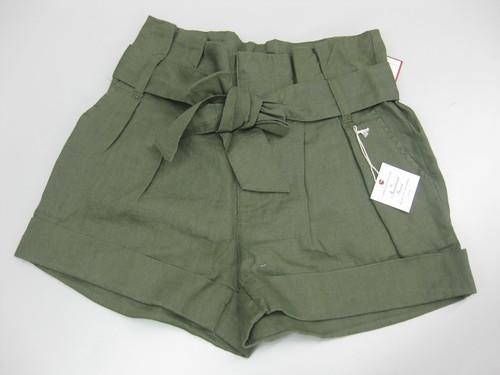 linen shorts, P409