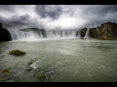 Another take at Godafoss (Kaj Bjurman) Tags: sky water rain dark waterfall iceland cloudy hdr kaj godafoss bjurman