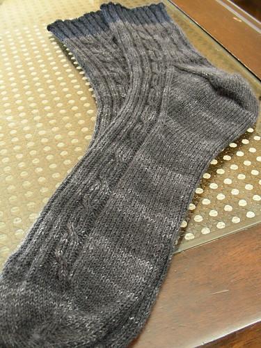 dads socks blue cuff