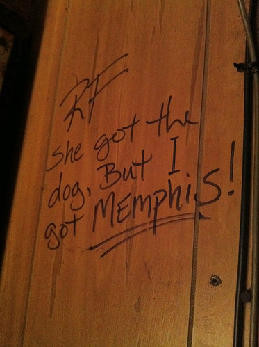 Best bar graffiti ever, P&H Cafe, Memphis, Tenn.