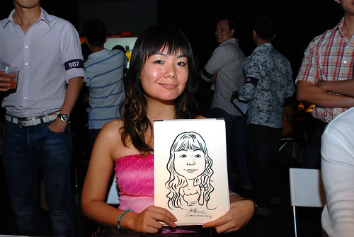 caricature live sketching for SDN First Anniversary Bash - 29