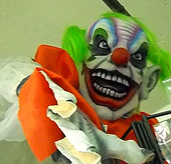 nothing scarier than a scary clown!