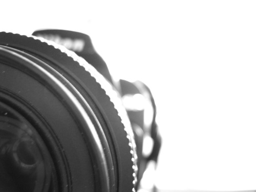 Nikon camera front on cropped - illustration for Michael Freeman - Minimalist Photography