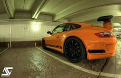 Porsche GT3 RS (A.G. Photographe) Tags: fish france nikon parking fisheye porsche nikkor rs français hdr anto gt3 997 xiii porschegt3 16mmfisheye porsche997gt3 d700 antoxiii hdr9raw