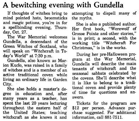 A bewitching evening with Gundella Grosse Pointe News 1988-10-20