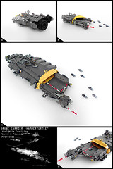 Drone Carrier (Pierre E Fieschi) Tags: fighter lego pierre space micro spaceship homeworld carrier spacecraft drone microspace fieschi microscale microspacetopia