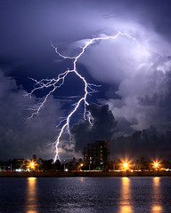 Lightning Over the Tonle Sap (Rob Kroenert) Tags: night clouds river asia cambodia southeastasia long exposure bolt phnompenh lightning southeast sap phnom penh tonlesap tonle