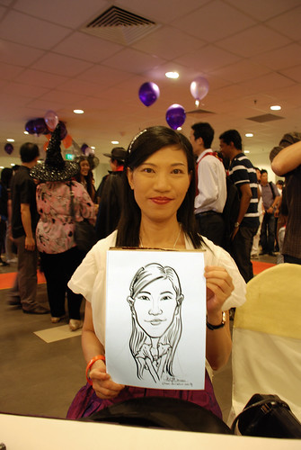 Caricature live sketching for NTU Alumni Club - 5