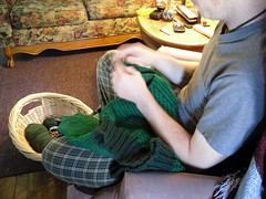 Me Knitting! (Yarn4Ewe) Tags: people green me knitting knit yarn knits knitted