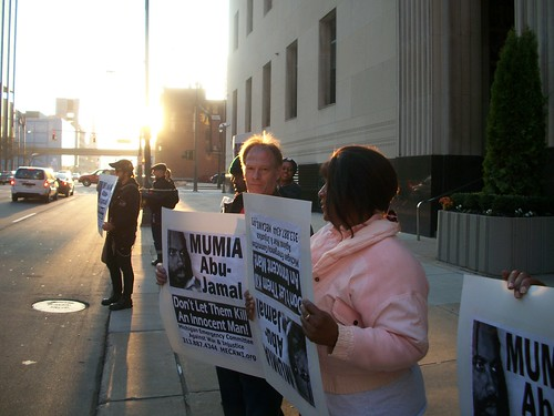 MECAWI demonstration in support of the freedom of Mumia Abu-Jamal in downtown Detroit in front of the Federal Court House on Tuesday, Nov. 9, 2010. (Photo: Abayomi Azikiwe) by Pan-African News Wire File Photos