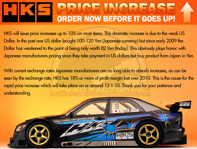HKS Price Increase