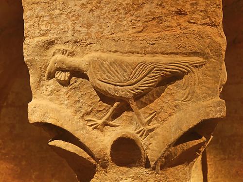 Châpiteau de la crypte - Eglise abbatiale de Cruas - Ardéche