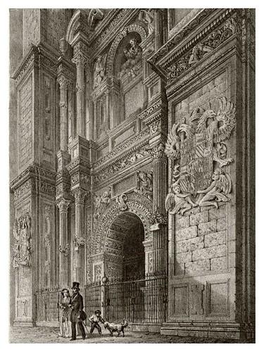 020-Puerta del Perdon-Catedral de Granada-Recuerdos y bellezas de España-Reino de Granada