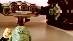 Jabba the Hutt's TIE Fighter - Me wantie da selfie (Evilkirk) Tags: starwars lego jabba hutt tie fighter moc