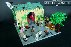 Star Wars Battlefront II - Theed (KevFett2011) Tags: kevfett2011 starwars battlefront ea theed darth maul rey droids army clones phase 1 afol rogue bricks lego art artist hobby landscape city
