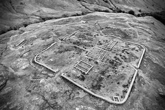 Hardknott Roman Fort aerial view (»alex«) Tags: hardknottromanfort lakedistrict cumbria archaeology history historical walls ruins ruin castle remote englishheritage fortification mountains aerial fromabove drone quadcopter dji phantom flight blackandwhite blackwhite bw mediobogdum eskdalevalley ravenglass roman fourthcohortofdalmatians