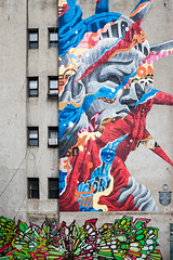 Happy July 4th to all of you who celebrate Liberty (CVerwaal) Tags: murals newyork ny usa tristaneaton liberty ricohgr