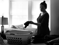 (kristankremer) Tags: laundry blackandwhite monochromatic family kids documentary
