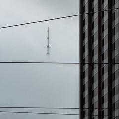 La tête dans les nuages (Claire Tfl) Tags: canada toronto tour télévision tower sky ciel brume