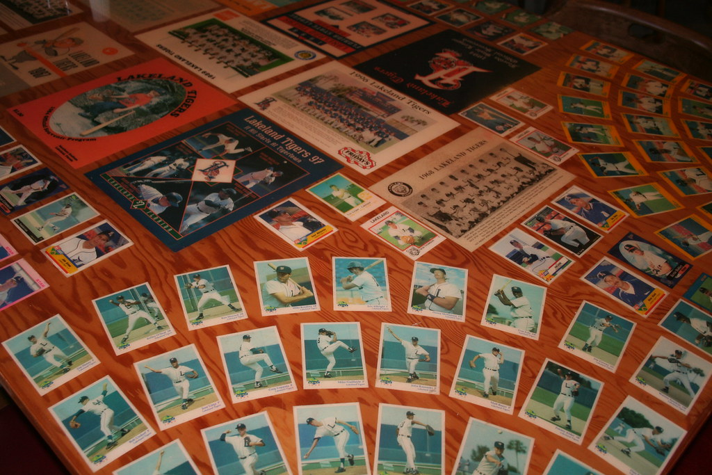 Tigers Player Baseball cards Lakeland Tigers Cafeteria