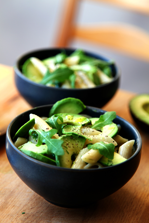 :: Avocado, Parmesan and Rocket Pasta
