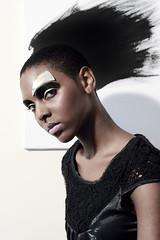 Black Paint Crown 01 (Berna V) Tags: london fashion blackdress blackgold bernavphotography mayalewis femaleportraitphotography priscillaschwarz