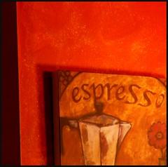 Orange Espresso (photo_secessionist) Tags: orange 6x6 tlr film coffee rollei rolleiflex zeiss mediumformat cafe mine poem kodak 1938 kaffee jena depressed espresso braunschweig coffeshop portra160 solomonsmaryland frankeheidecke squarecolor rolleiflexstandard inspiredbyk zeissf3575cmtessarlens analog120 adubiouscompliment