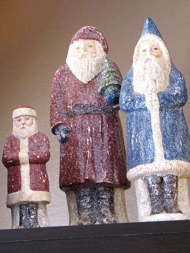 Sparkly Santas 1