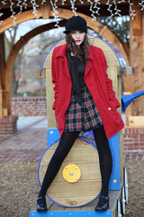 Winter playground (Onnaleejoy) Tags: atlanta winter red hot girl fashion playground ga model shoes pretty shoot legs young tights teen knithat schoolgirl duluth nai leggings redcoat tearsheet modelshoot plaidskirt teenmodel modelmayhem outdoorshoot flickraward january2010 onnaleejoy atlmodel flickraward5 shooterphotomagazine
