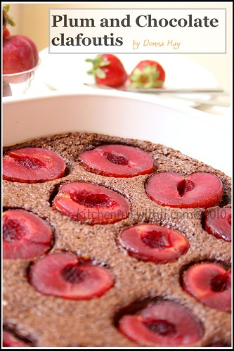 plum & Chocolate Clafoutis