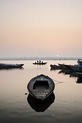 Dawn vigil (sengsta) Tags: river dawn boat calm rowing rowboat ganga ganges helloboat