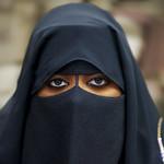 Veiled lady in Salalah, Oman
