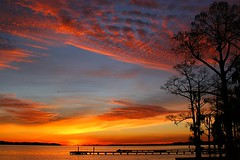 Bayview Estates Morning (JGetsinger) Tags: silhouette sunrise river nc colorful scenic waterway riverscape beaufortcounty pamlicoriver bayviewestates jaygetsingerbayviewestatesmorning