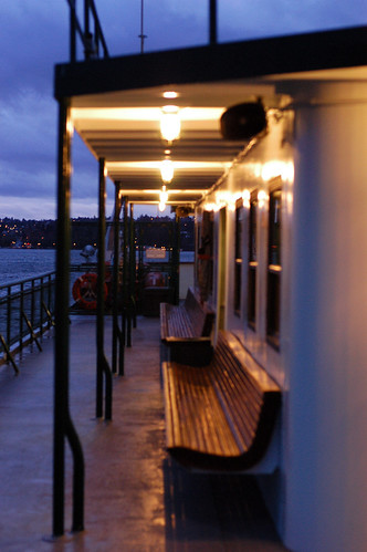 ferry in the evening
