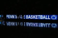 100107_NittanyLionLights (110Penned) Tags: sports reflections pennstate psu nittanylions onthesidelines pennstatebasketball