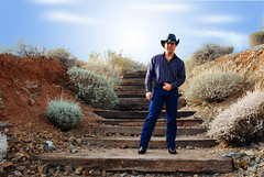 [007/365] Hee Haw ([JBC] Photography) Tags: portrait selfportrait self cowboy wranglers jeans 365 d80 nikond80 3652010