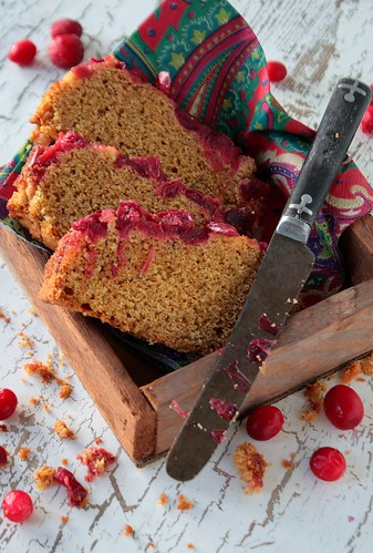 Cranberry Kumquat Cornbread