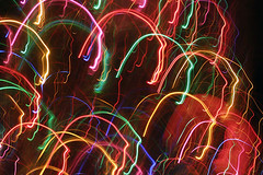 Net Neutrality = creative autonomy (bijoubaby) Tags: longexposure light usa lightpainting color colors face night lights one rainbow artist faces head many bears uni