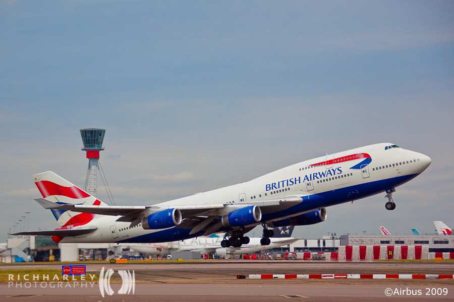 BA 747 Take Off at LHR