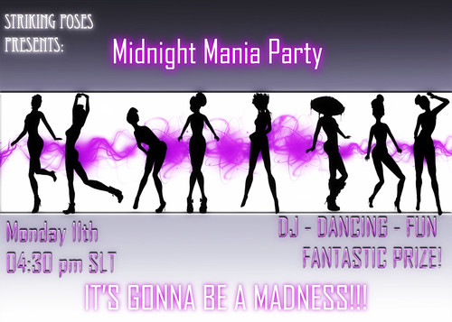Midnight Mania Party Ad